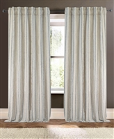 Creative Threads drapes window treatments curtains linen stripe embroidery lined brick rust green ivory boulder wheat natural