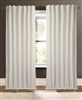 curtain panel ivory unlined linen rows open weave vertical