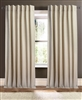 curtain panel natural unlined linen rows open weave vertical