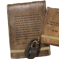 leather journal embossed inspirational