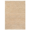 cream tan rectangle area rug fringe jute