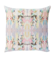accent toss occasional pillow polyester feather down insert colorful ivory aqua pink lavender lilac abstract