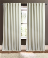 curtain panel ivory off-white loose weave knubby texture