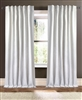 curtain panel white loose weave knubby texture
