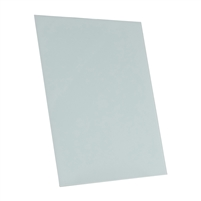 light Paris blue tempered glass rectangle dry erase board magnetic