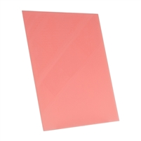 coral orange tempered glass rectangle dry erase board magnetic