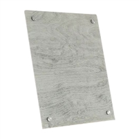 gray wood grain tempered glass rectangle dry erase board magnetic