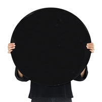 black round tempered glass dry erase board magnetic