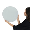 light blue round tempered glass dry erase board magnetic
