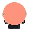 coral orange round tempered glass dry erase board magnetic