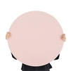 light pink round tempered glass dry erase board magnetic