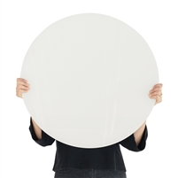 white round tempered glass dry erase board magnetic