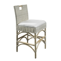 rattan white wash counter stool