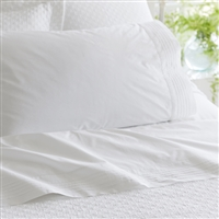 "white cotton sheet queen flat fitted pin tucks hemstitch 16"" pocket king queen twin California sets"