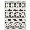 moroccan shag area rug black white