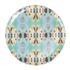 colorful melamine plates green teal white