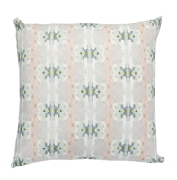 Accent Toss Pillow - Occasional Throw Pillow with Polyester Feather Down Insert In Colorful Aqua, Teal, & Taupe Abstract Design