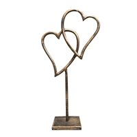 metal dual heart stand