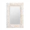 mirror rectangle pearl white coco bead made goods