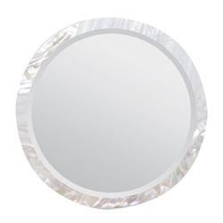 Designer Luxury Wall Hung Albert Mirror with Kabibe Shell