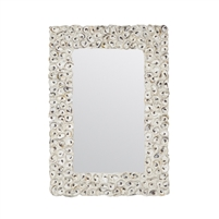 mirror rectangle natural oyster shell made goods