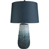 blue ombre jute wrapped table lamp