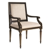 armchair turned legs antique black gold