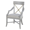 arm chair gray oak beech wood linen upholstered