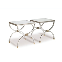 cocktail table bunching silver gold accents contemporary
