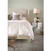 king bed taupe cream shagreen linen upholstered