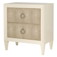 nightstand ivory acacia shagreen two drawer