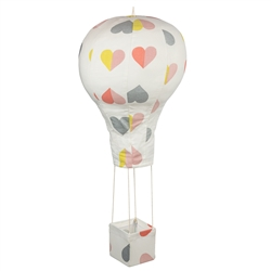 Baby Mobile Hot Air Balloon Hearts