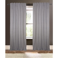 powder blue white striped curtain drapery panels