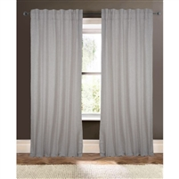 light gray white striped curtain drapery panels