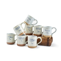 xo mugs assorted set gold blue