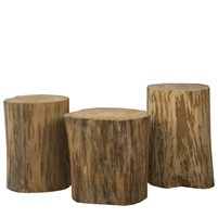 Padma's Plantation Natural Tree Stump Side Table - Side Table