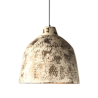 hammered metal white distressed pendant light