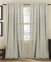 curtain panel drapery coffee taupe white diamond pattern lined