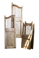antique rustic wood iron saloon doors