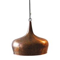 pendant light copper rust teardrop