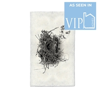 photography black white handmade paper bird nest #1