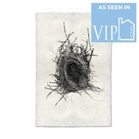 photography black white handmade paper bird nest #12