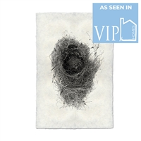 photography black white handmade paper bird nest #6