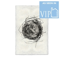 photography black white handmade paper bird nest #7