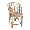 natural bamboo accent chair rounded back