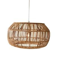 round pendant light bamboo