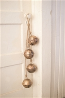 brass bells metal rustic four jute twine