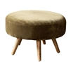 avocado green ottoman channel stitching splayed legs mid-century