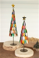 recycled christmas tree metal colorful