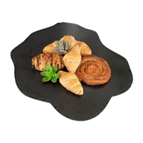black stone lime lazy susan rustic edge organic shape